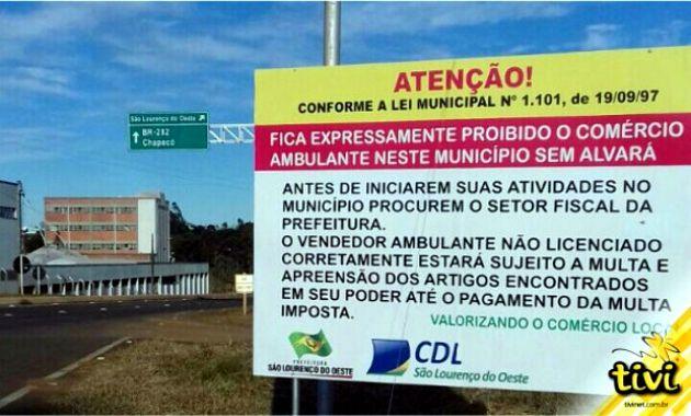 ação contra comércio ambulante