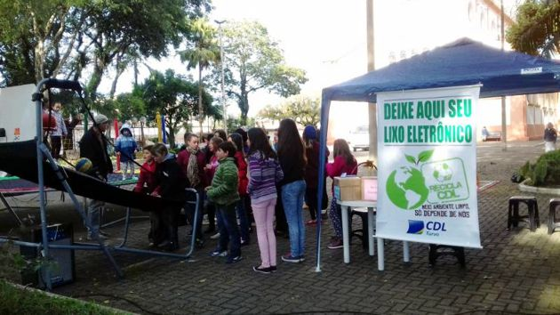 Recicla CDL em Turvo arrecada 800 quilos de resíduos