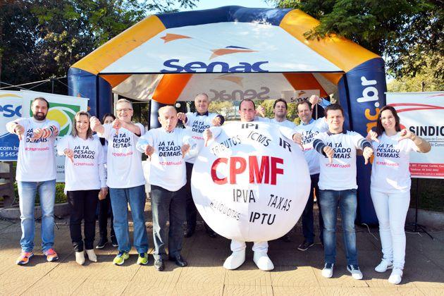 Nas ruas, CDL Concórdia apoia ato contra volta da CPMF