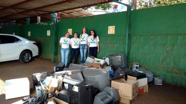 Recicla CDL em Cunha Porã recebe 1 tonelada de resíduos
