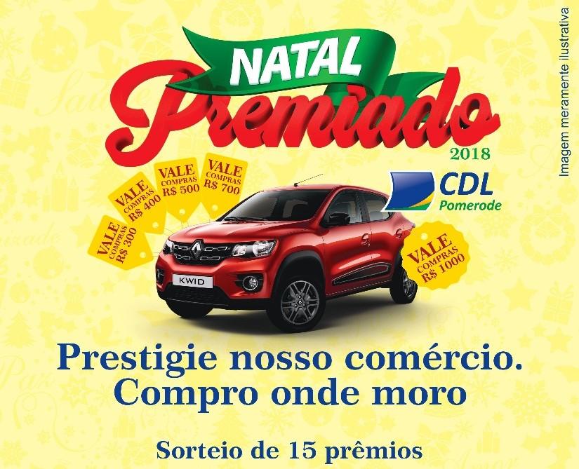 ccaa672fb1 CDL Pomerode lança campanha Natal Premiado 2018
