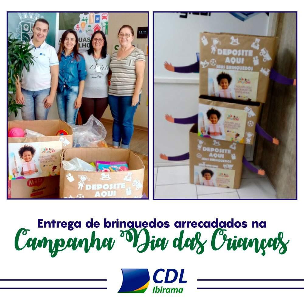 7dc2869098 CDL Ibirama doa brinquedos angariados no mês das crianças